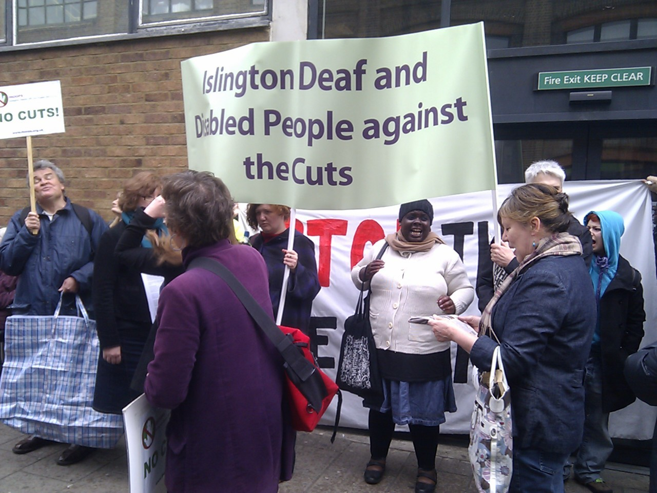 Photo from the Holloway ATOS protest