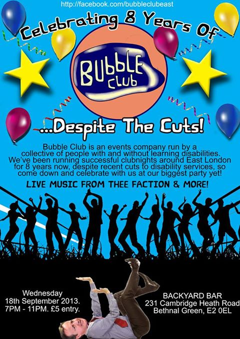 bubble club poster