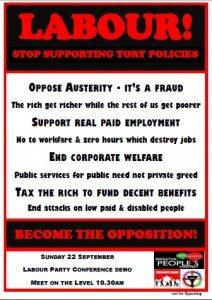 labour demo flyer