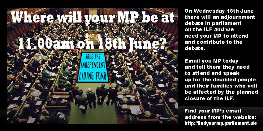 Where will your MP be during the ILF Debate?