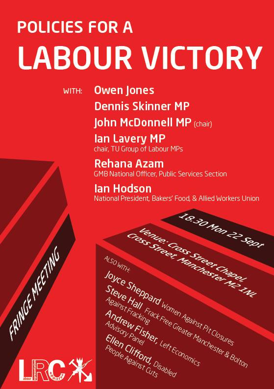 LRC Policies for a Labour Victory Poster