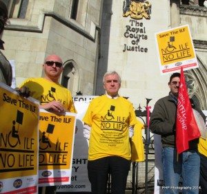 (left to right) - Mark from PCS Union who is equalities officer London. John McDonnell MP Andrew Lee, People First.
