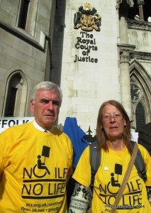 John McDonnell MP Linda Burnip, co founder of DPAC