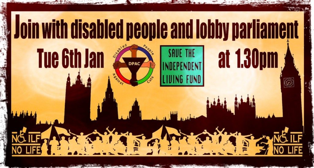 Join the DPAC Lobby of Parliament 6th Jan 1.30pm