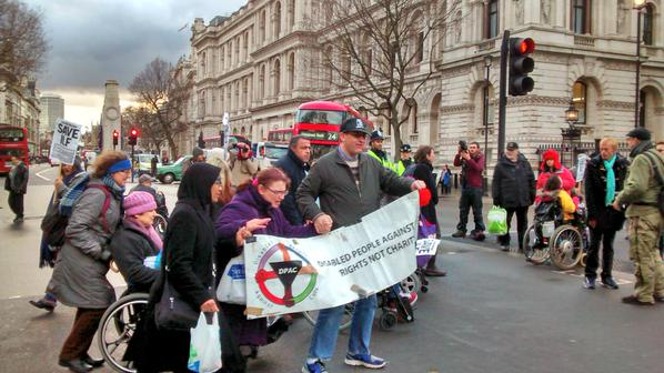 @FuelPovAction Brilliant moving-dancing blockade with @Dis_PPL_Protest to #saveilf