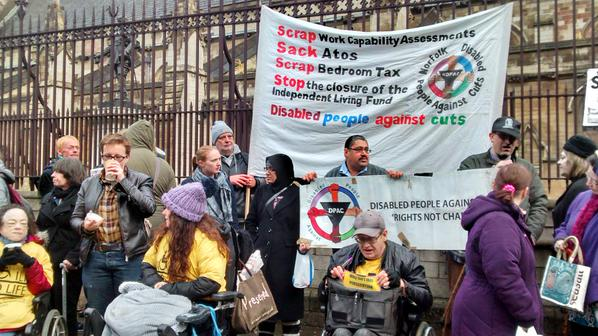 @FuelPovAction - Outside Parliament with @Dis_PPL_Protest to #SaveILF join in with online Tweeting to show your support!