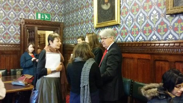 DPAC #SaveILF Lobby at House of Commons. Jubilee Room, hosted by Caroline Lucas