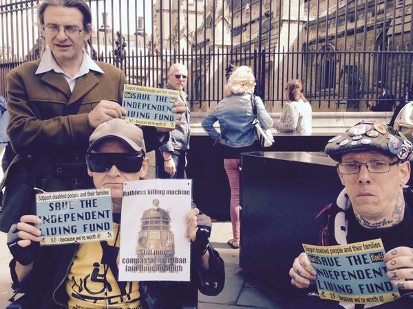 Protesters to #SaveILF at the commons