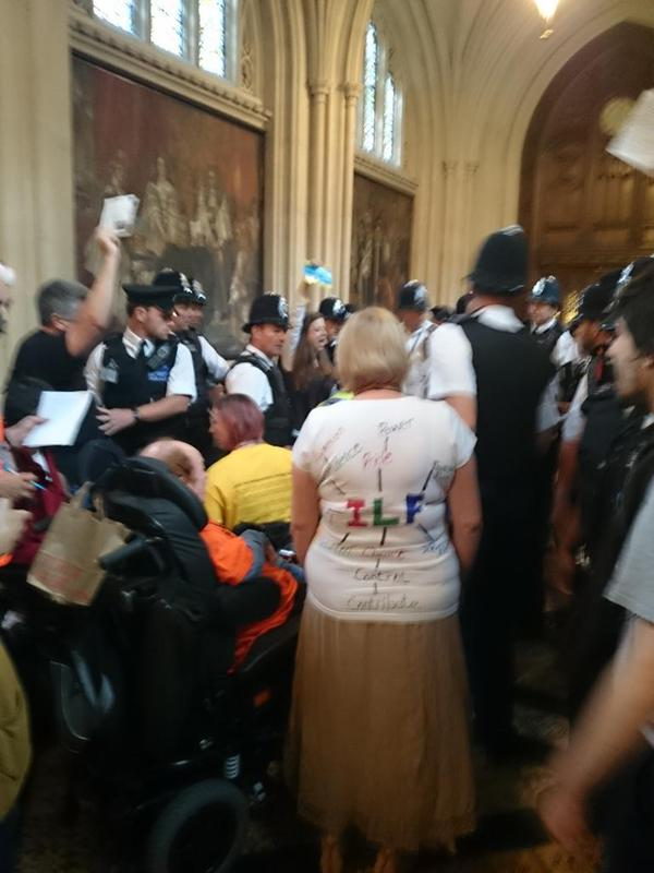 Protest inside the House of Commons to #SaveILF