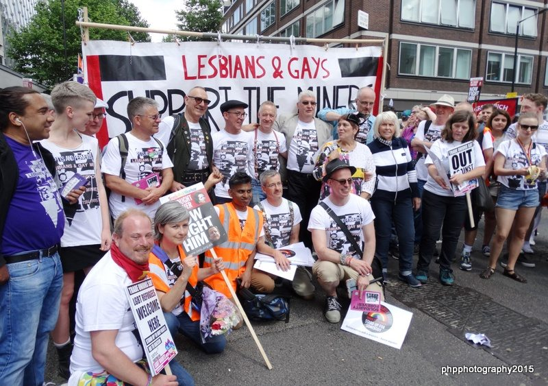Members of LGSM with Nicola Field (southwark DPAC and also a member of LGSM)