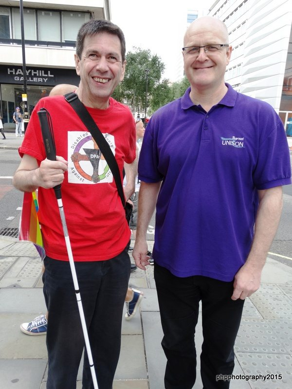 Roger (DPAC) with John Burgess Barnet Unison