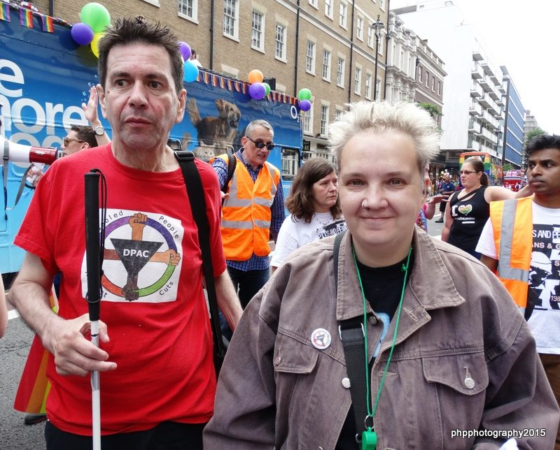 Roger and Louise from DPAC on the Pride march