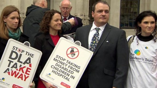 Cameron's father Craig Mathieson (pictured) won a Supreme Court test case challenging rules governing disability allowances