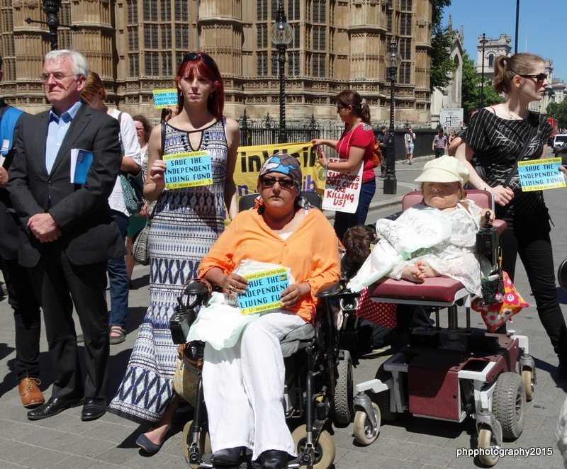 John McDonnell MP, showing support and solidarity at closing ceremony of ILF with ILF receipents and supporters