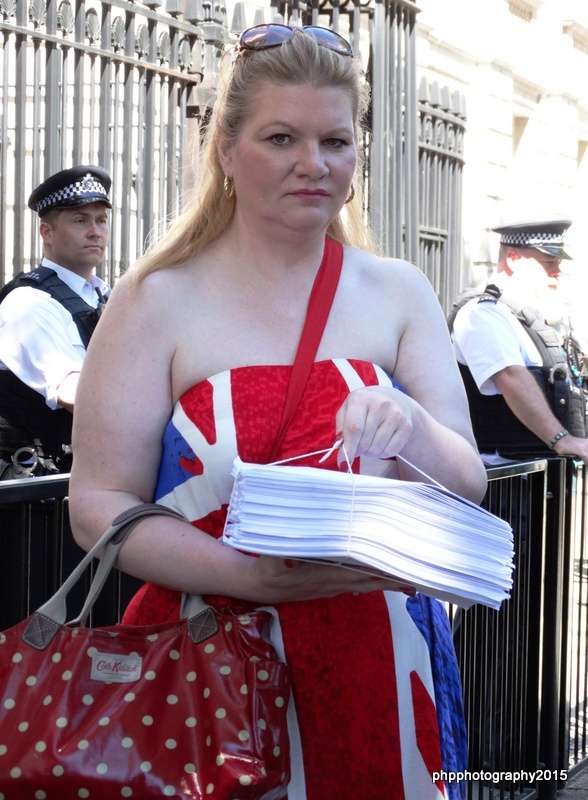 The 38 Degrees ILF Petition which 25,000 people signed to save the ILF, Petition was handed into Downing street during closing ceremony of ILF