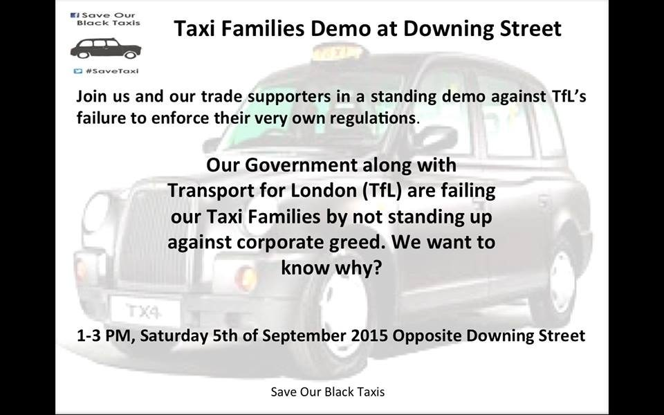 Save the London Taxis demo poster