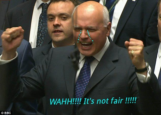 "IDS wailing ""It's not fair"""
