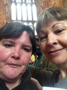 Paula Peters and Caroline Lucas selfie - Photo by Paula Peters
