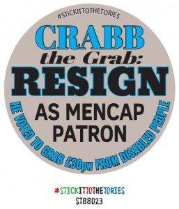 Crabb the grab resign as mencap Patron