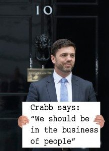 "Crabb Says ""We should be in the business of people"""