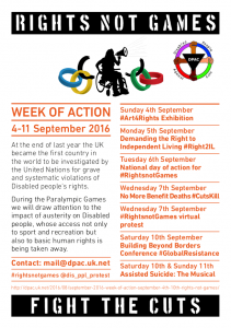 #RightsNotGames Week of Action single page flyer - A5