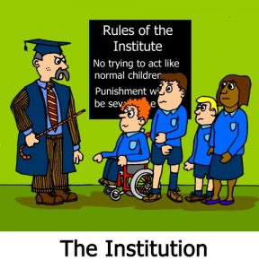 Crippen, Rules for the institution cartoon