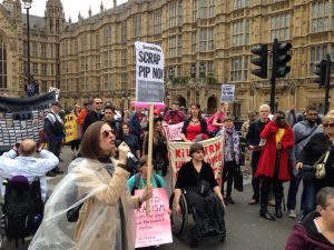 National Day of Action Against PIP - the action in Central London
