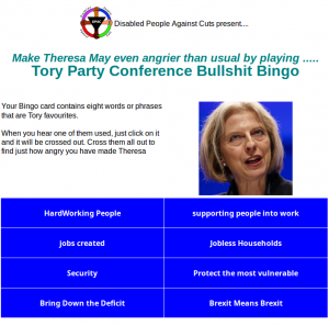 Tory Party Conference Bullshit Bingo made conference week just a little more bearable