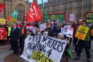 RMT Rally in defence of workers rights and disabled people's access to transport