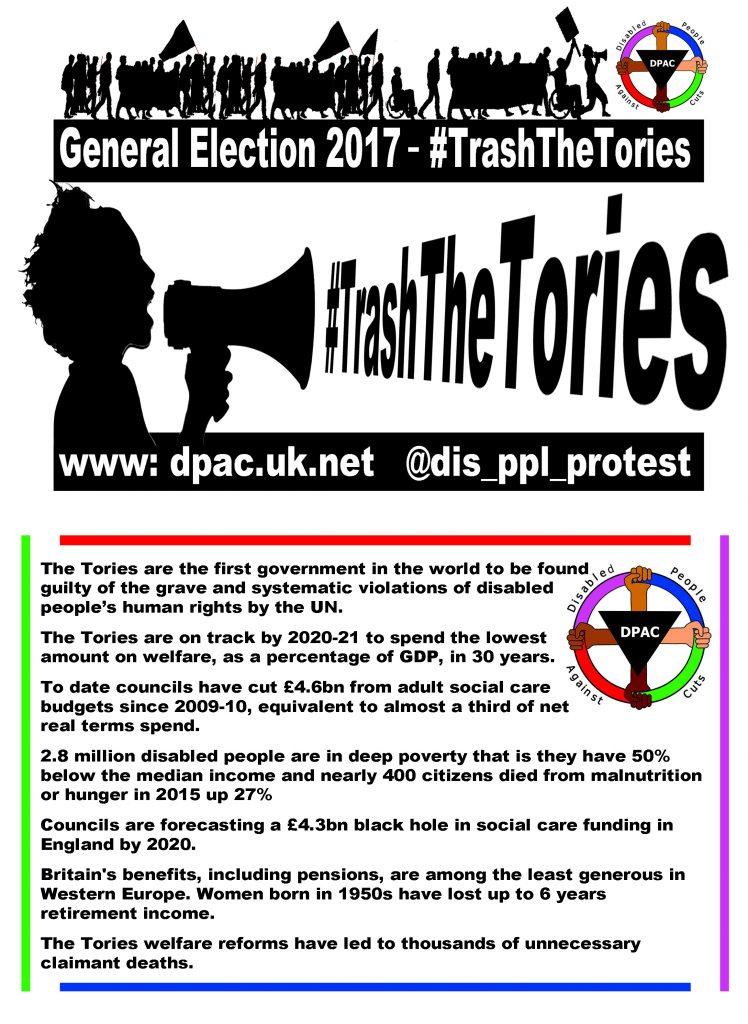 Downloadable #TrashTheTories Leaflet
