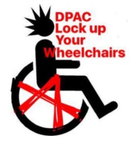 DPAC Lock Up Your Wheelchairs Logo