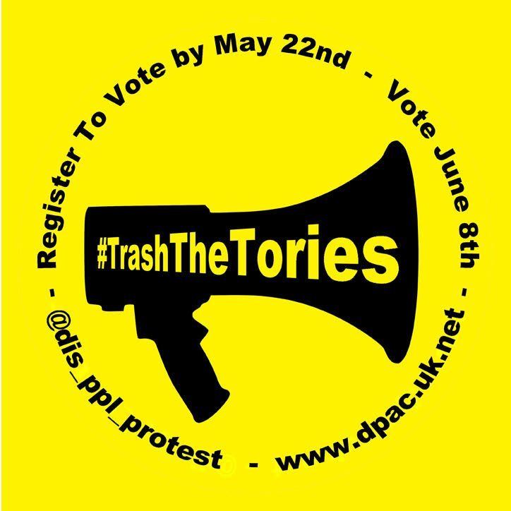 Sorry but we need some money- can you spare £1 for DPAC's election campaigning #TrashTheTories