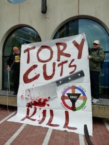 Our Massive Tory Cuts Kill Banner