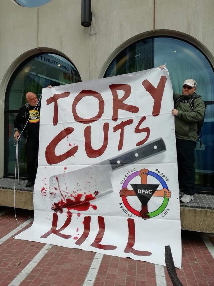 DPAC Protest at the Tory Conference - pictures