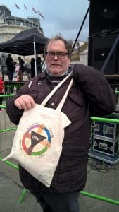 Stephen with his DPAC bag