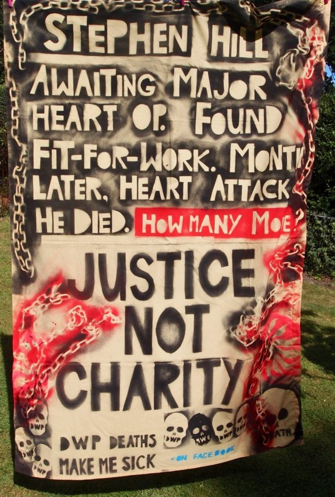 Justice not Charity shroud by Vince Laws